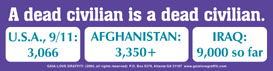 A Dead Civilian Is a Dead Civilian (with statistics from 9/11, Afghanistan & Iraq)
