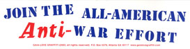 Join the All-American Anti-War Effort